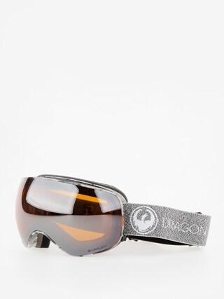 Okuliare na snowboard Dragon X2s (mill/lumalens silver ion/dark smoke)