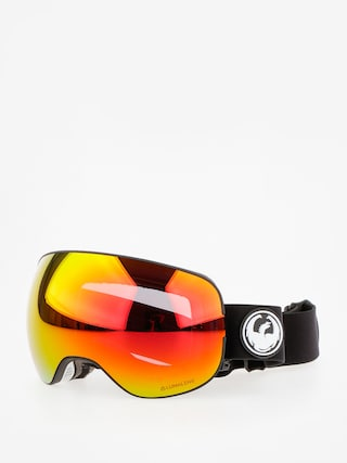 Okuliare na snowboard Dragon X2 (black/lumalens red ion/l rose)