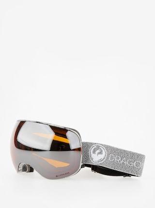 Okuliare na snowboard Dragon X2 (mill/lumalens silver ion/dark smoke)