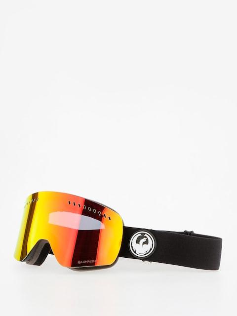 Okuliare na snowboard Dragon NFXs (black/lumalens red ion/l rose)