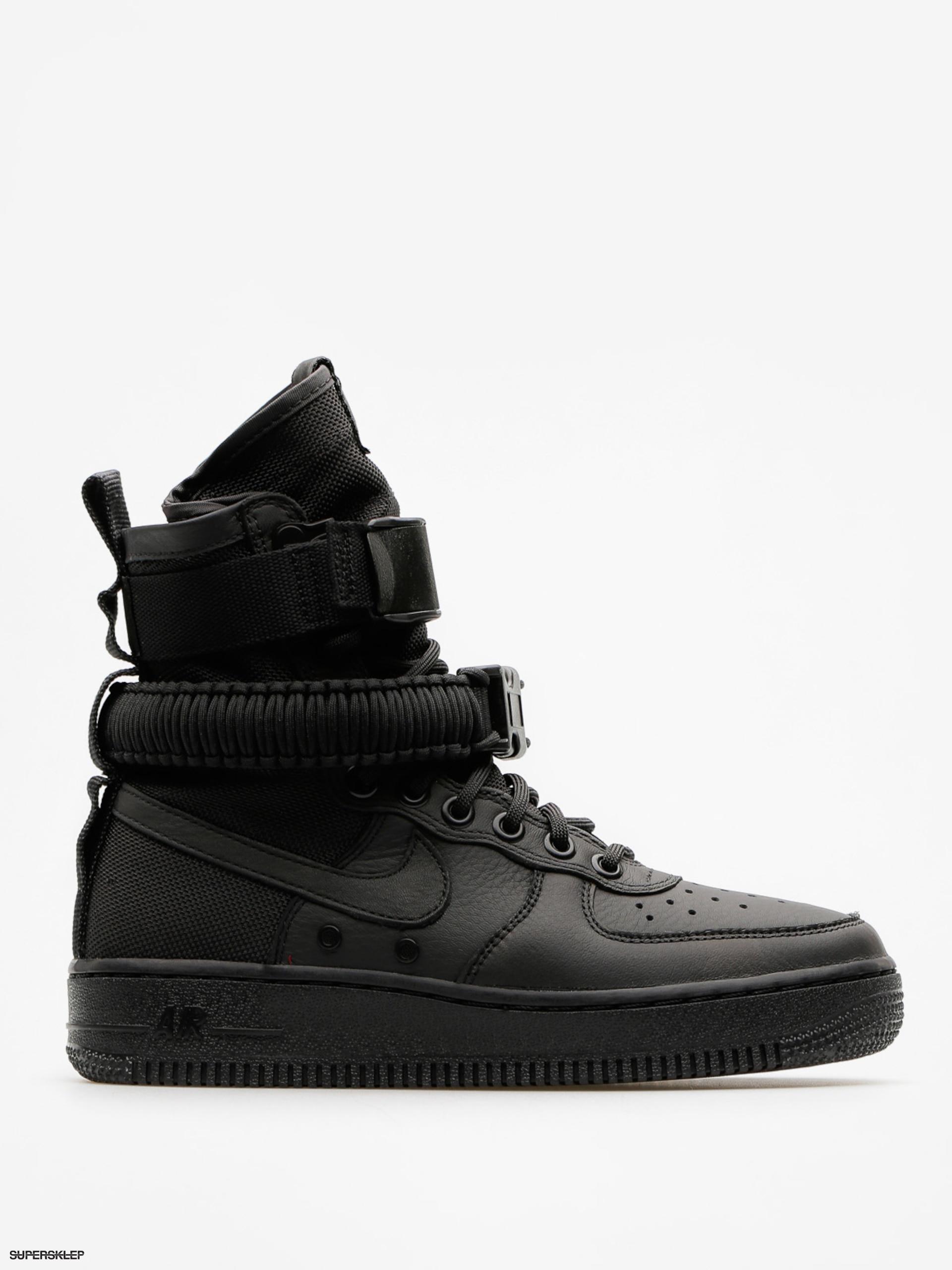 bb36ca2895066 Topánky Nike Sf Air Force 1 Wmn (black/black black)