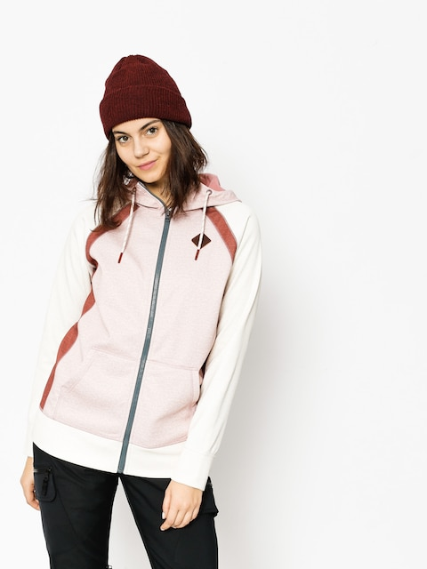 Burton Mikina s kapucňou Scoop ZHD Wmn (dusty rose heather)