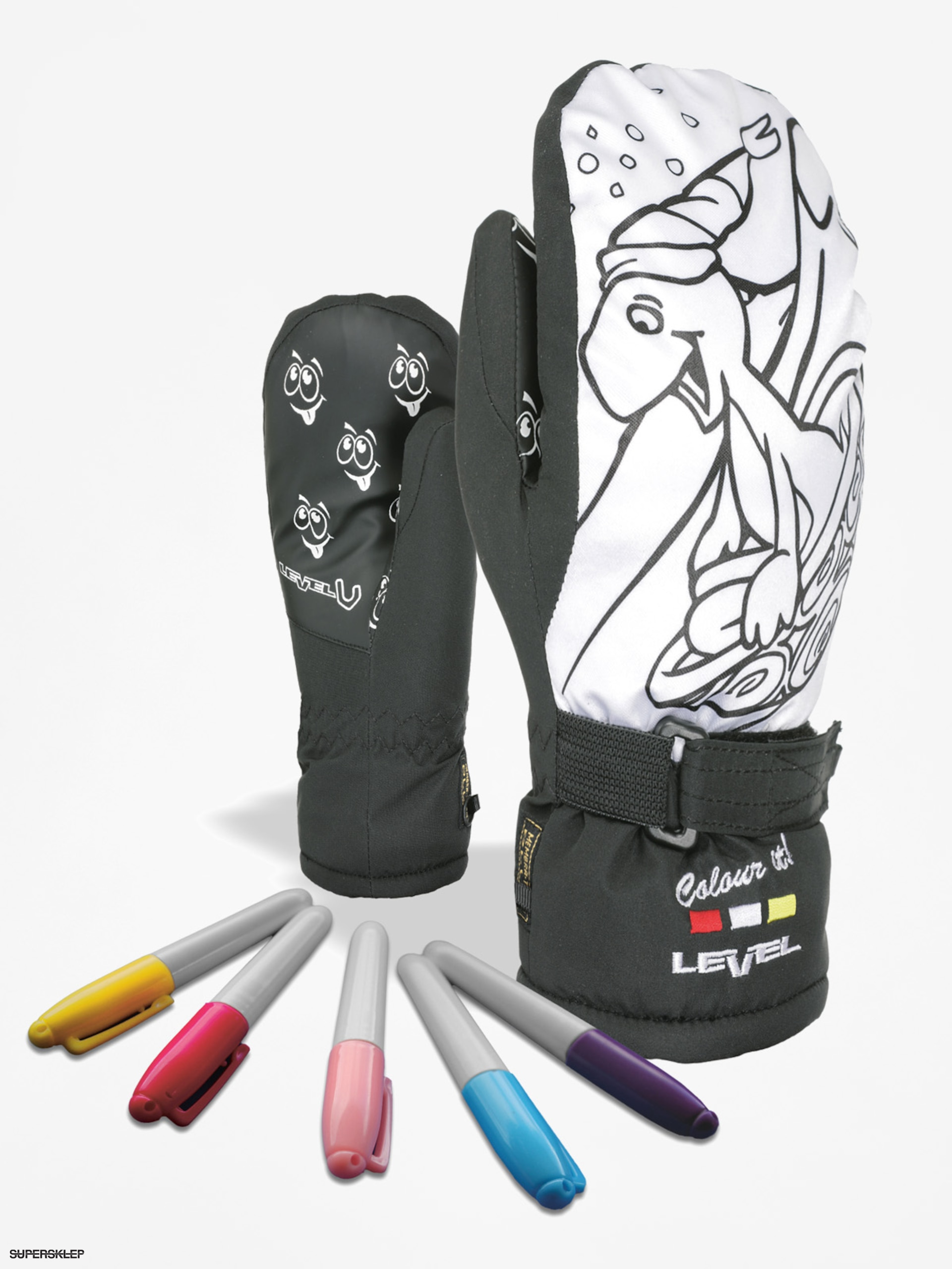 Rukavice Level Pop Art Jr Mitt (black)