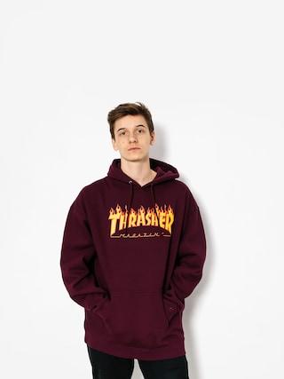 Mikina s kapucu0148ou Thrasher Flame HD (maroon)