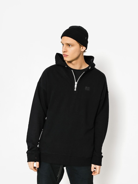 Mikina s kapucňou The Hive Zip Henley HD (black)