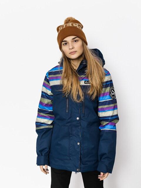 Snowboardová bunda Westbeach Waltz Jacket Wmn (ultramarine/multi colour aztec)
