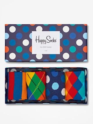 Ponou017eky Happy Socks Giftbox 4pk (navy/blue/white)