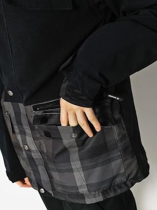 Snowboardová bunda Westbeach Trojan Jacket (black/steel check)