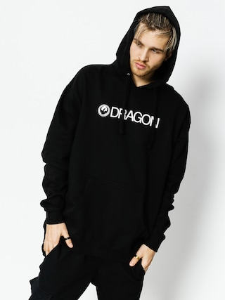 Mikina s kapucí Dragon Trademark Hood Staple Line (black)