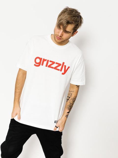 Tričko Grizzly Griptape Lowercase (white/red)