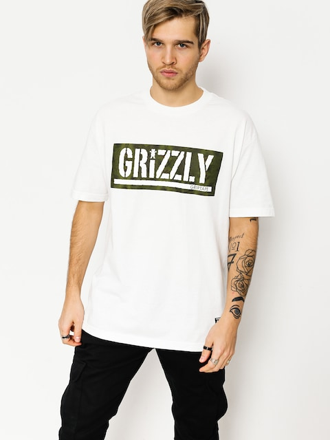 Tričko Grizzly Griptape Forester Stamp (white)