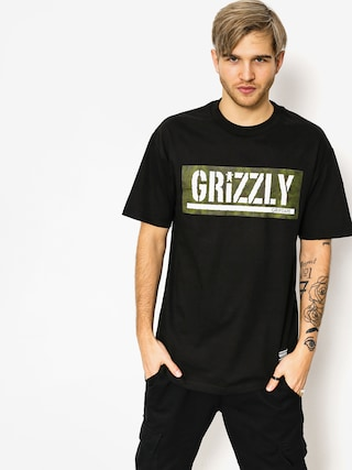 Tričko Grizzly Griptape Forester Stamp (black)
