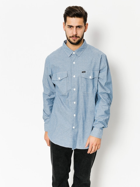 Košeľa Brixton Davis Wvn Ls (light blue chambray)