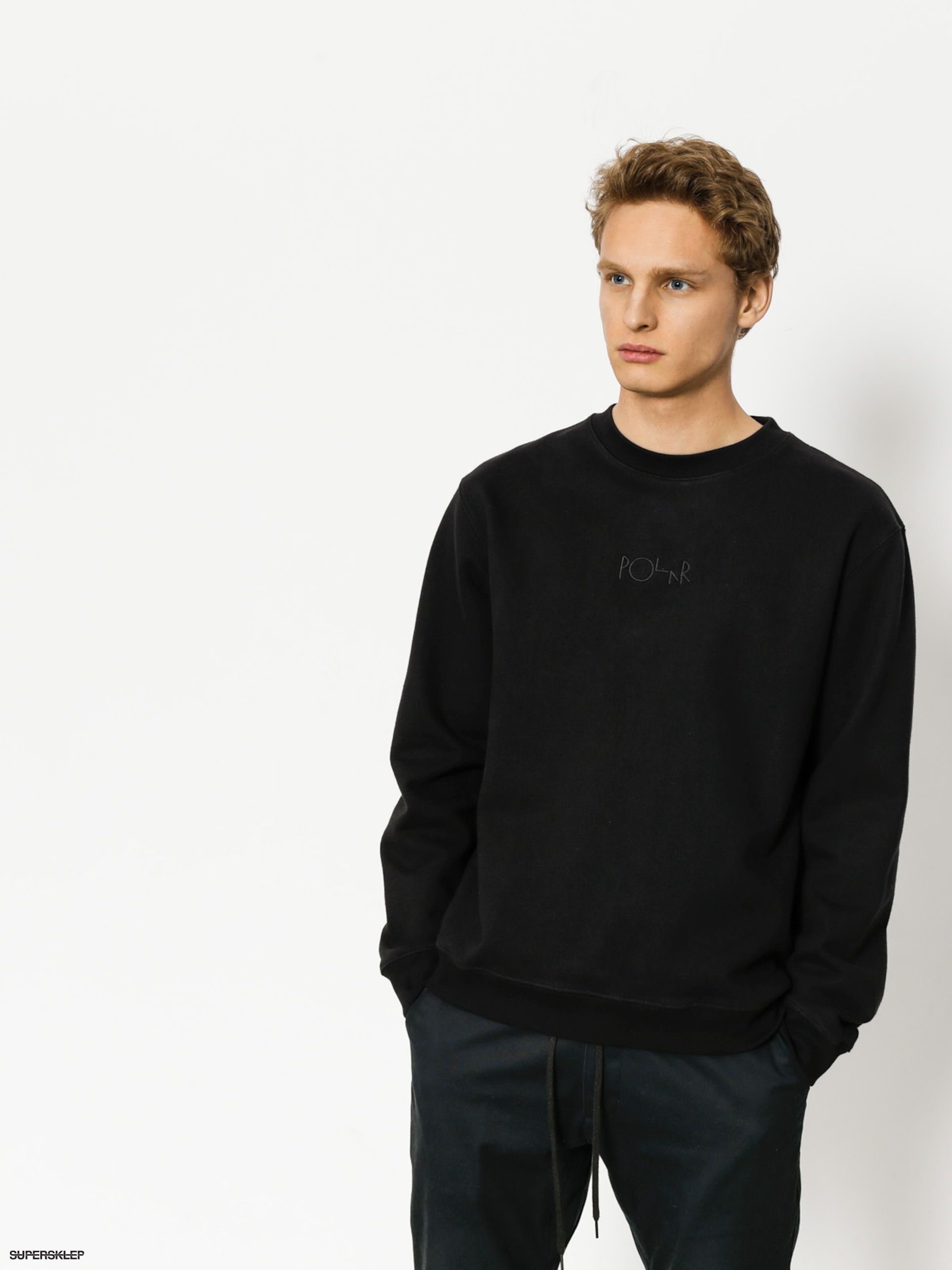 Mikina Polar Skate Heavyweight Default Crewneck (black)