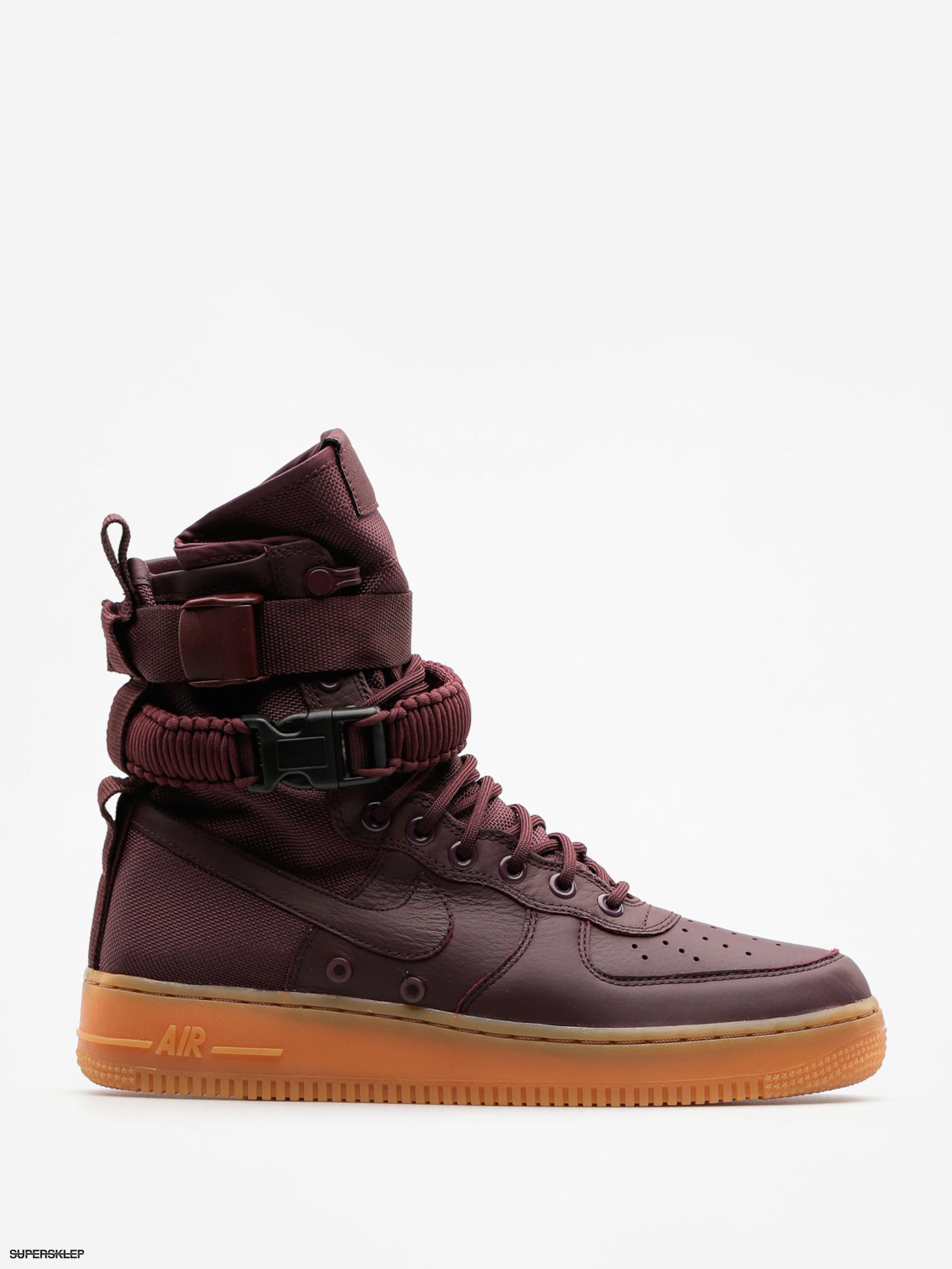 38e8846cb6e64 Topánky Nike Sf Air Force 1 (deep burgundy/deep burgundy black)