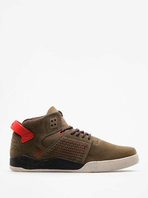 Topánky Supra Skytop III (olive/risk red)