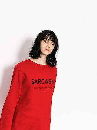 Mikina Diamante Wear Sarcasm Wmn (red)