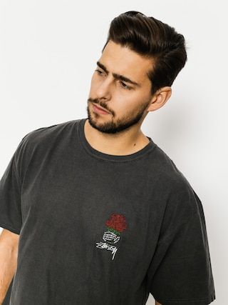 Tričko Stussy Bouquet Pig Dyed (black)