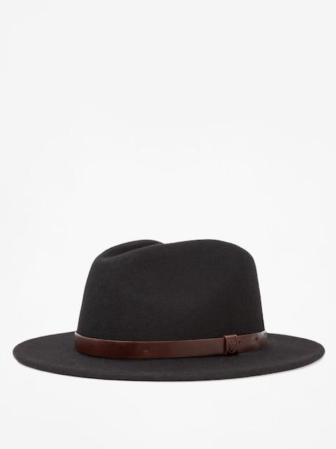 Klobúk Brixton Messer Fedora (black)