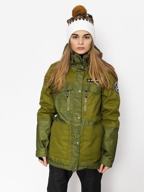 Snowboardová bunda Westbeach Waltz Jacket Wmn (combat green fairisle)