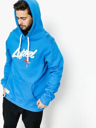 Mikina s kapucňou LRG Lifted Scrpt HD (blue)