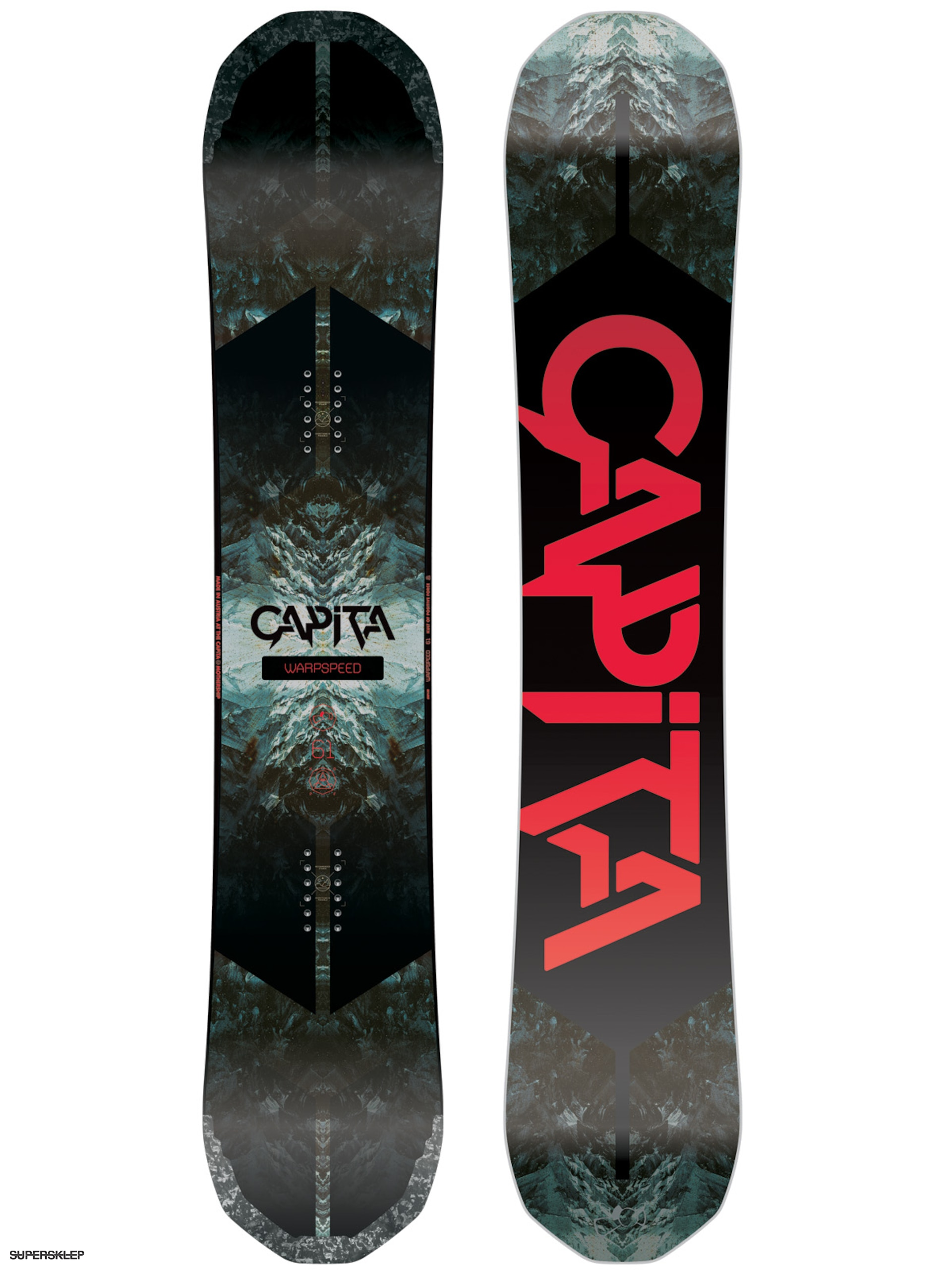 Snowboard Capita Warpspeed (white/black/red)