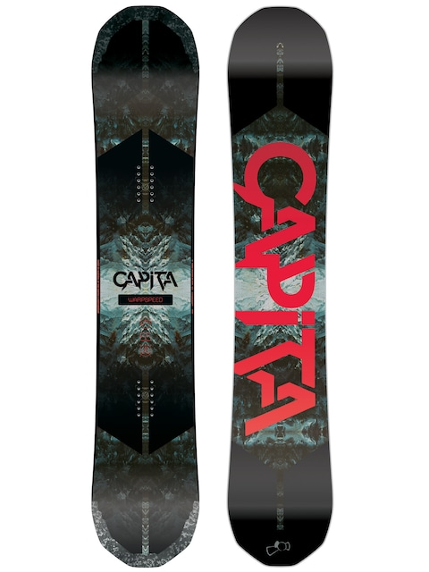 Snowboard Capita Warpspeed (black/white/red)