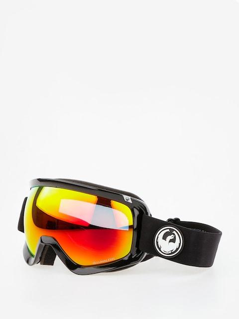 Okuliare na snowboard Dragon D3 (black/lumalens red ion/l rose)