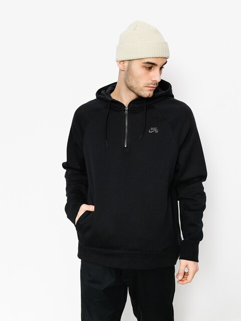 Mikina s kapucňou Nike SB Hoodie Icon Hz HD (black/dark grey)