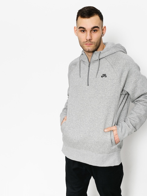 Mikina s kapucňou Nike SB Hoodie Icon Hz HD (dk grey heather/black)