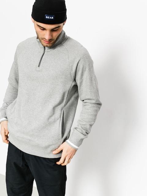 Triko Nike SB Top Evrt Mock Hz (dk grey heather/white/dark steel grey)