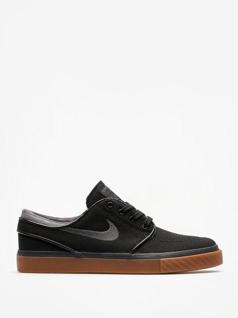 Topánky Nike SB Zoom Stefan Janoski Cnvs (black/anthracite gum med brown)