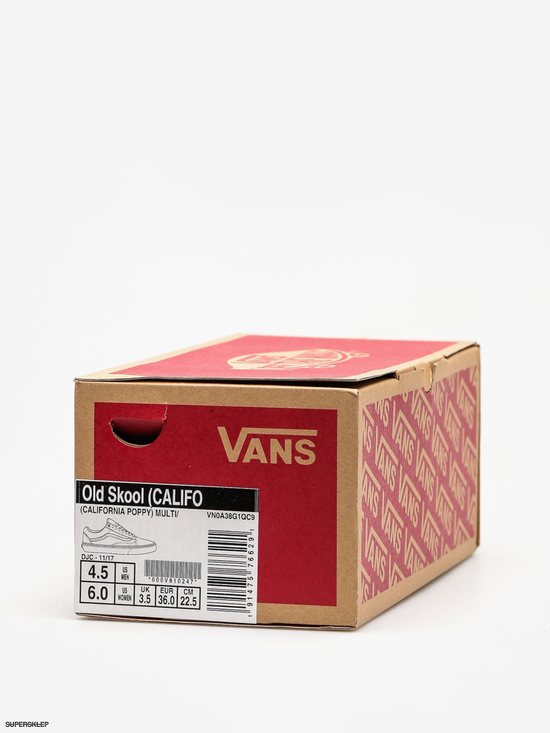 Topánky Vans Old Skool (california poppy multi true white) 21cb65ad6c6