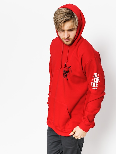 Mikina s kapucňou Diamante Wear Don't Die HD (red)