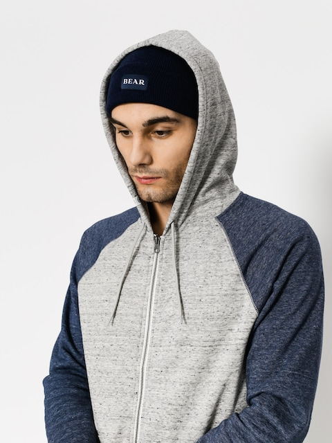 Mikina s kapucňou Element Meridian Block ZHD (grey heather)