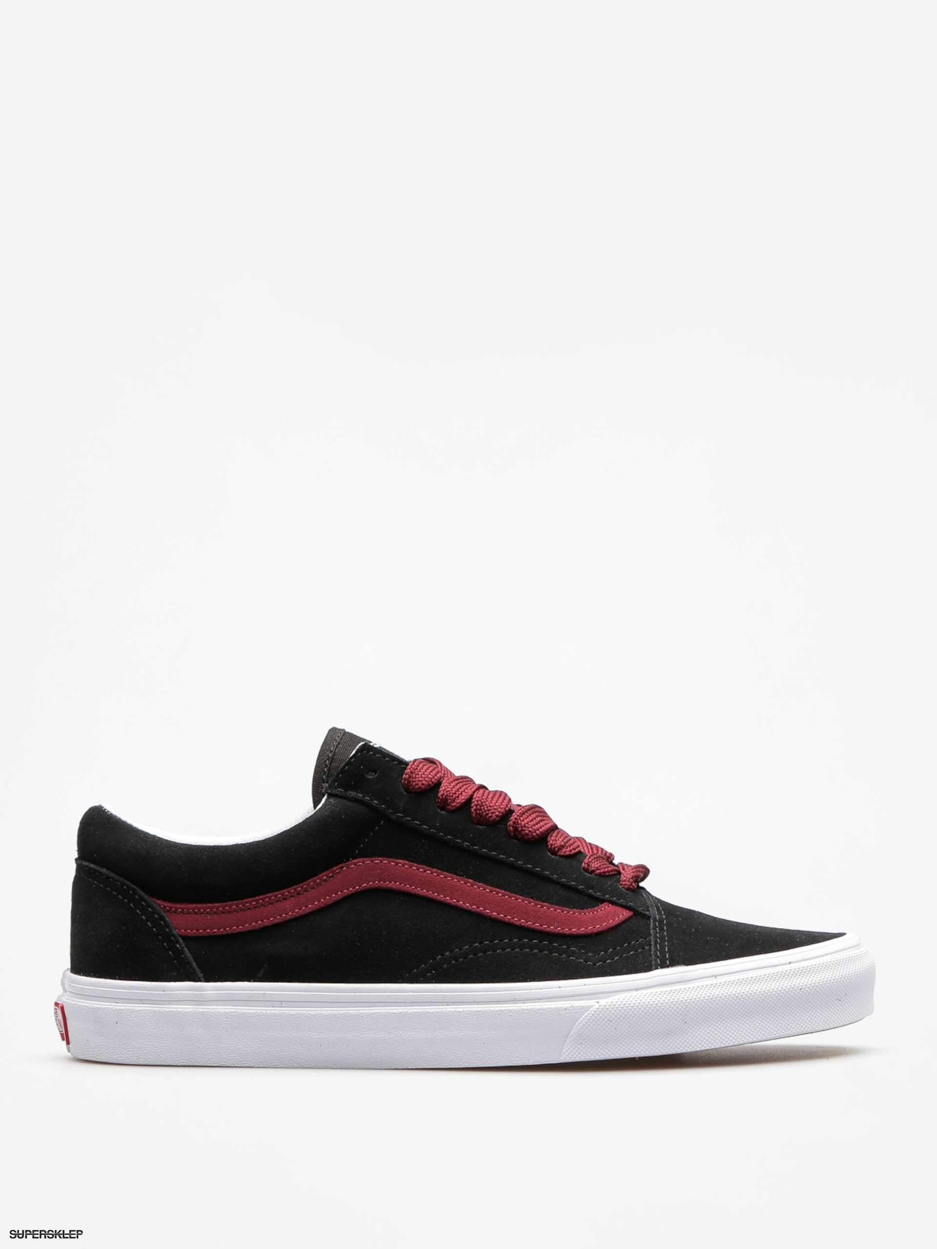 Topánky Vans Old Skool (oversized/lace/black/port/royale)