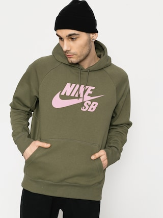 Mikina s kapucňou Nike SB Sb Icon HD (medium olive/elemental pink)