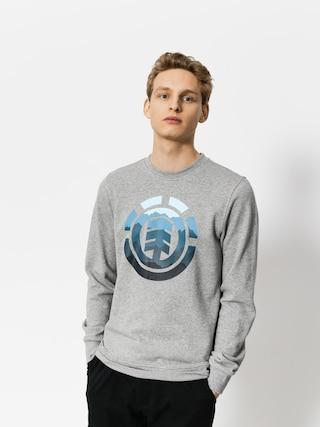 Mikina Element Logo Fill Crew (grey heather)