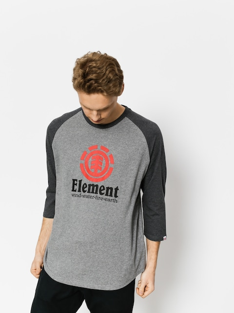 Tričko Element Vertical Raglan Qtr (grey heather)