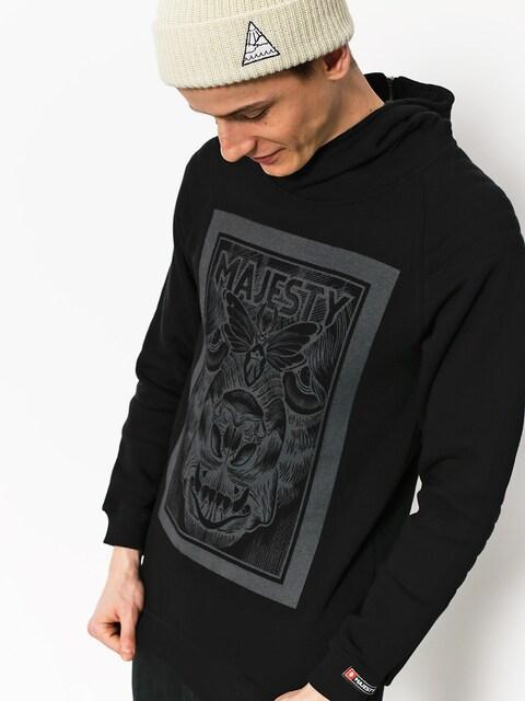 Mikina s kapucňou Majesty Biker HD (black/graphite)