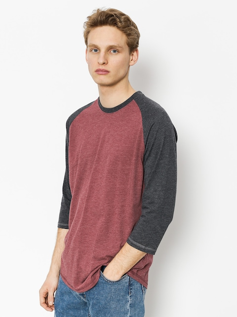 Tričko Element Basic Raglan Qtr (oxblood heather)