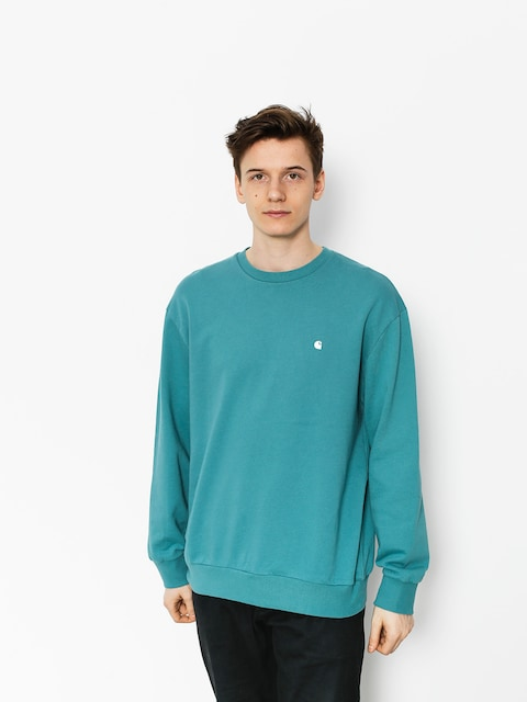 Carhartt Mikina Madison (soft teal/white)