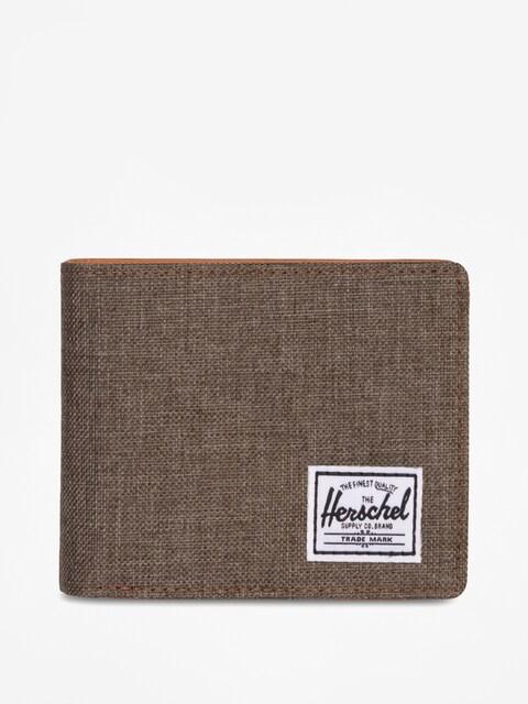 . Peňaženka Herschel Supply Co Hank Rfid (canteen crosshatch/tan synthetic leather)