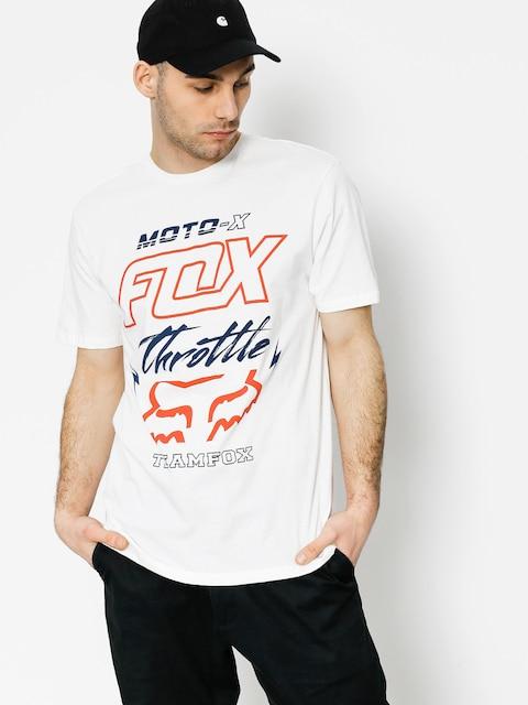 Tričko Fox Throttled Premium (opt wht)