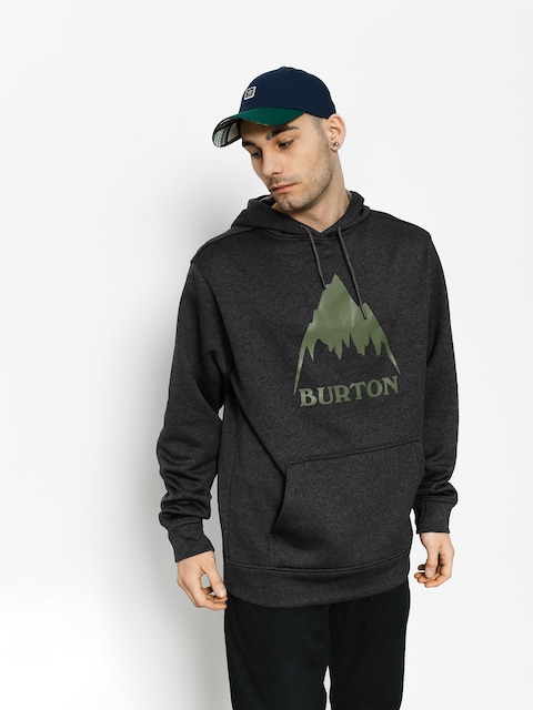 Mikina s kapucňou Burton Oak HD (true black heather)