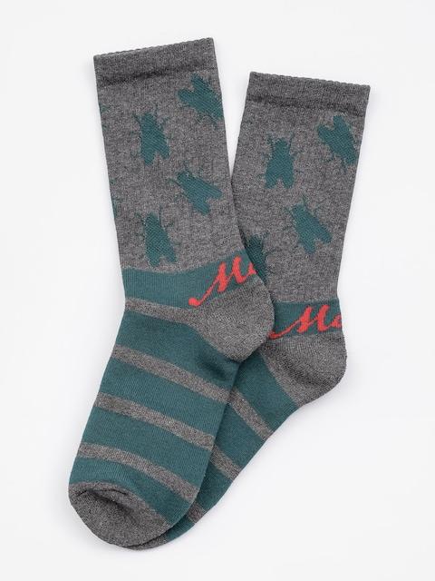 Ponožky Malita Fly (grey/green)