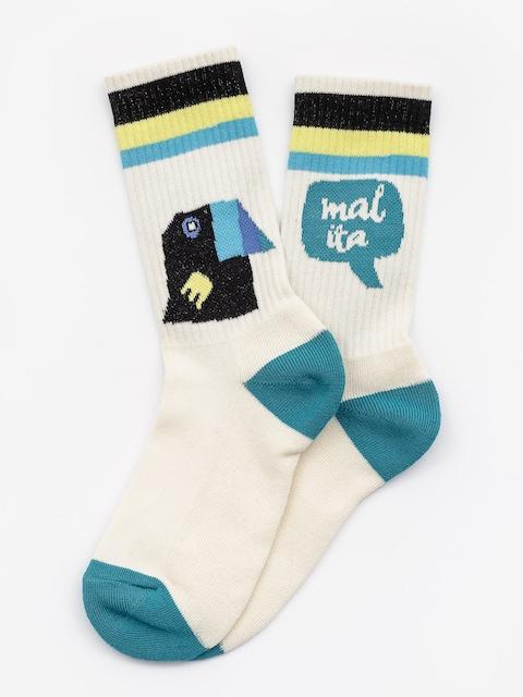 Ponožky Malita Toucans (beige)