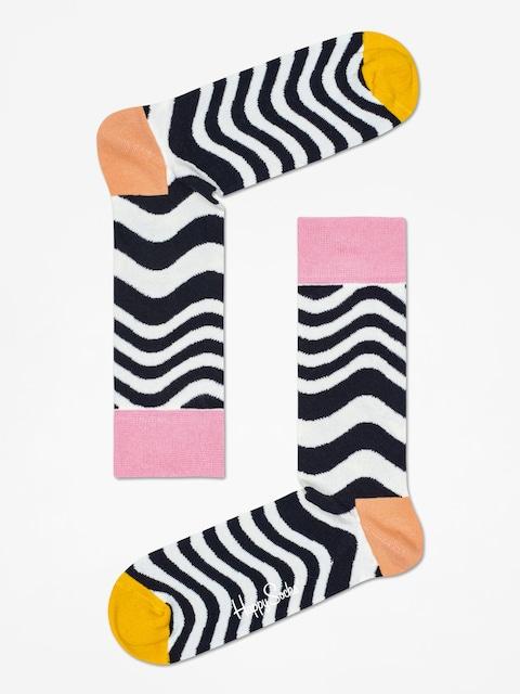 Ponožky Happy Socks Wavy Stripe (white/black)