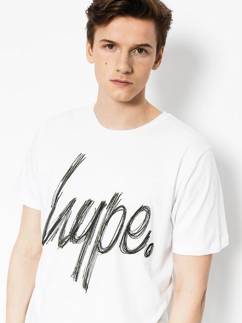 Tričko Hype Scratch (white/khaki)