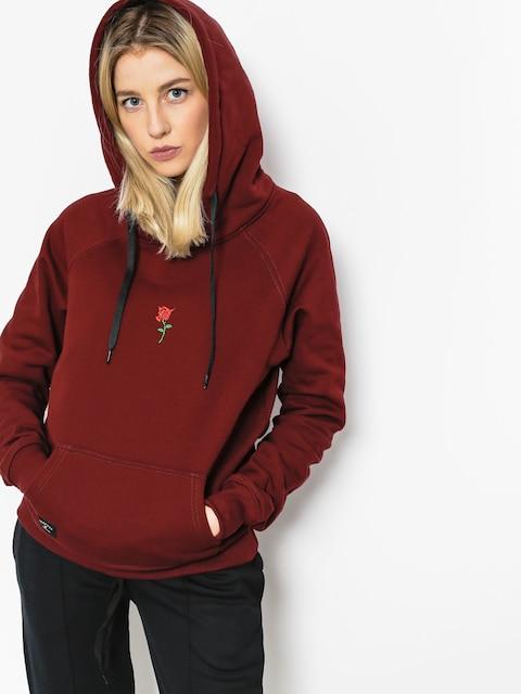Mikina s kapucňou Nervous Rose HD Wmn (maroon)